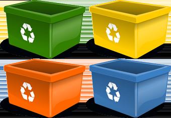 contenedores para el reciclaje el retirado de enseres