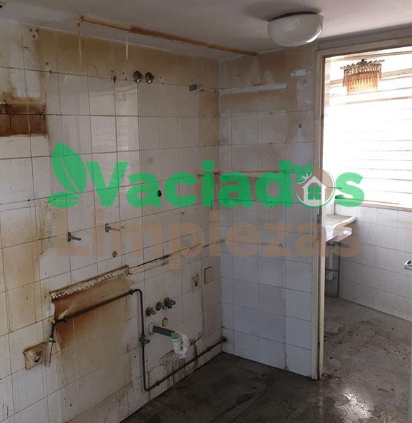 vaciado de casas completo, incluida la cocina