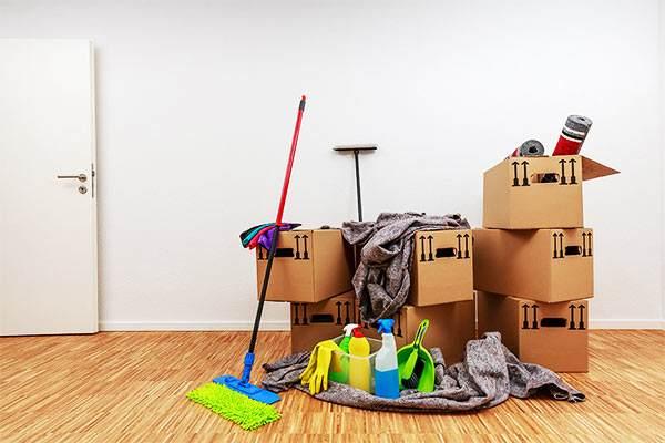 limpieza tras el vaciado de un piso