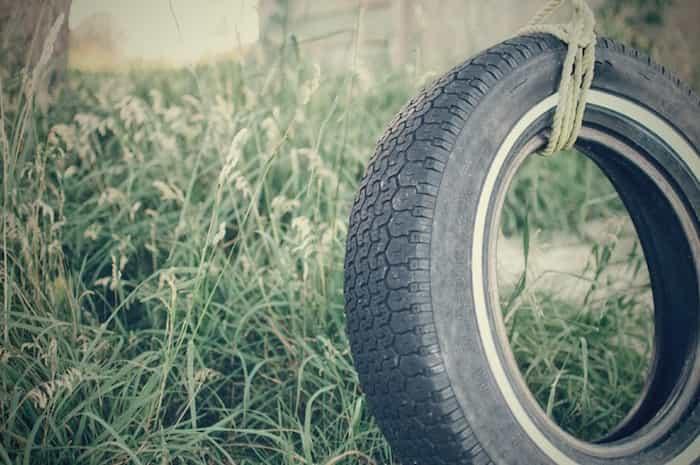 Reciclaje casero de ruedas neumáticas