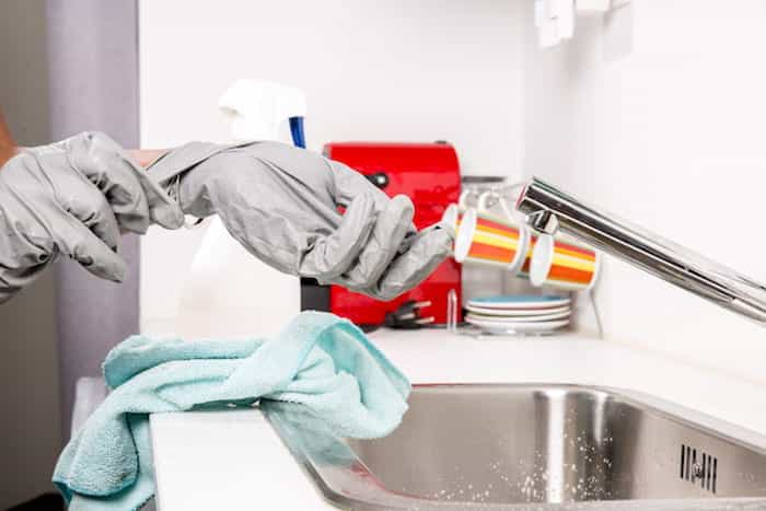 La utilización de lejía para desinfectar