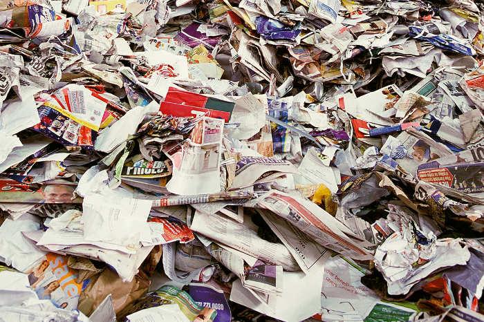 Residuos de papel no peligrosos