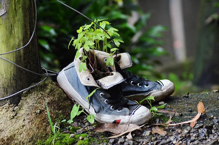 Zapatillas viejas para reciclar
