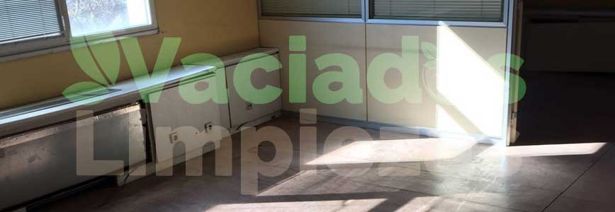 vaciado de pisos en Torrejón de la Calzada